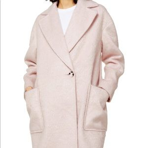 NWT Topshop Carly Brushed Coat
